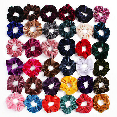 Colors Elastic Hair Ties  Hair Rubber Bands Hair Scrunchie Velvet Scrunchie
