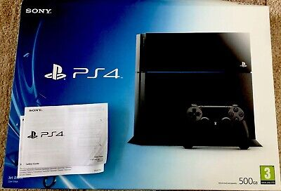 Sony PlayStation 4 500GB Console Boxed -  Jet Black And 4 Games / PS4