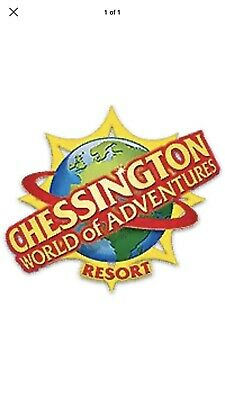 2 X CHESSINGTON WORLD OF ADVENTURE TICKETS - WEDNESDAY 24th JULY 2019