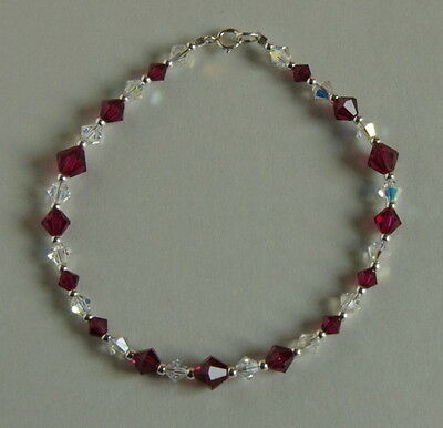 df56405349b6e SWAROVSKI CRYSTAL FRIENDSHIP Bracelet, Ruby Red/Gold - $54.00 | PicClick