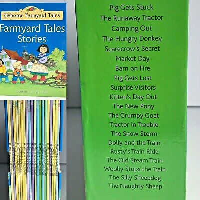 Usborne Farmyard Tales Stories 20 Title Book Set RRP £79.80 New For Set Learning