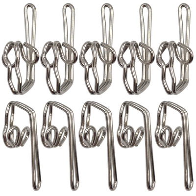 100 Metal Curtain Hooks With 24 Silver Rings Drapery Window Hanging 124 Pack New