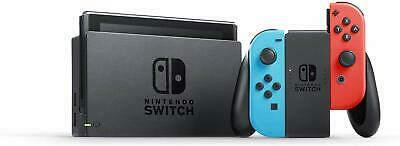 Nintendo Switch 32GB Console with Neon Red and Neon Blue Joy-Con with Game