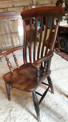 Antique victorian Grandfather chair