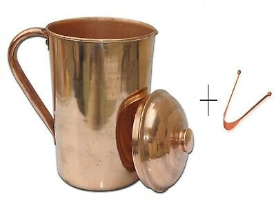 Pure Copper Water Jug 1.5L Capacity Handmade Copper Pitcher for Ayurveda Health