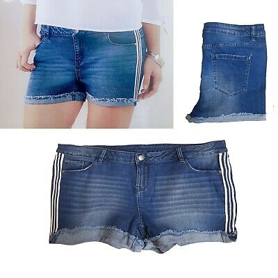Jeans Shorts Hot Pants Shorts Stretch Jeans Size 44 XL