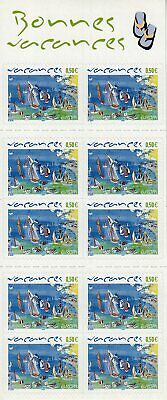 Carnet Timbres 2004 Vacances Europa 10 Timbres Adhesifs
