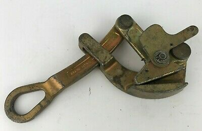 Klein Tools Parallel Jaw Cable Wire Puller 1685-20 ~ 4500Lbs ~ 5/32 - 7/8in Used