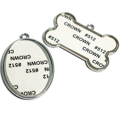 Sublimation Blank Metal Dog Tags for Sublimation Printing by Heat transfer