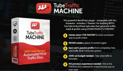 TubeTraffic Machine Instant Traffic, Leads, Sales & Commissions!