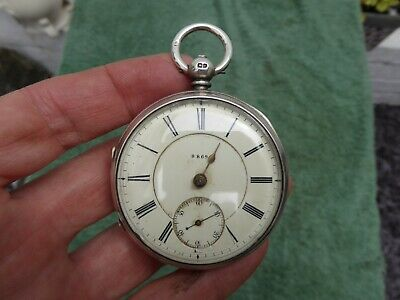 Antique Chester Silver Fusee Pocket Watch..spares or repair