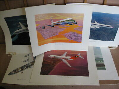 12 X Original Douglas Aircraft Company Prints/Posters.1960'S.all Different.plane