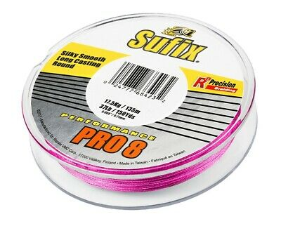 Sufix Performance Pro 8 135m Lo-Vis Green Braided line Trenzados