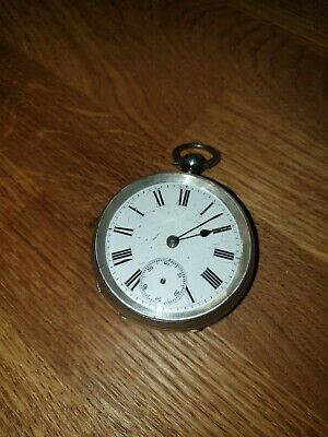 Antique Victorian 1894 Sterling Silver Pocket Fob Watch - Louis Jacot for repair
