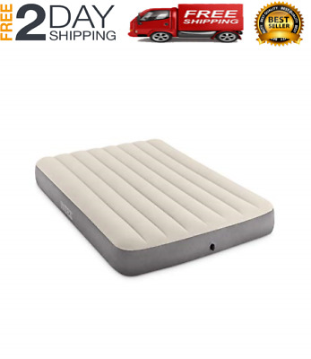 "Air Mattress 10/"" Raised TWIN Size Aerobed Intex Built Pump Inflatable Bed"