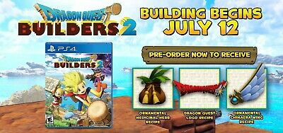 DRAGON QUEST Builders 2 (PS4) Pre-order DLC Key Code PLAYSTATION (USA/CAN)