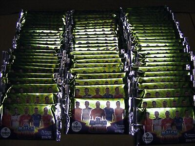 2016/17  MATCH ATTAX trading cards 75 SEALED PACKS (16/17) ( 9 cards per pack )