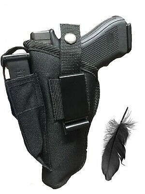 S/&W 4003TSW 4006TSWNylon OWB Open Carry Belt Holster with Mag Pouch