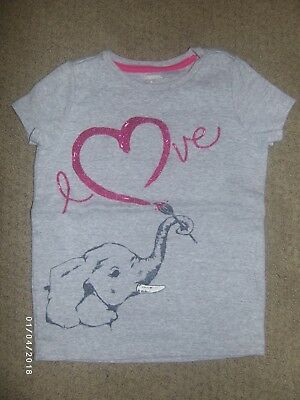 EUC ~ Gymboree Valentines Day Shirt, Size 4, Gray, Elephant Love