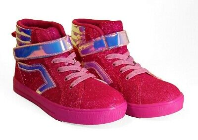 Girl Athletic Pink Glitter High top Shoes Sizes 12c 11c 9c 8c