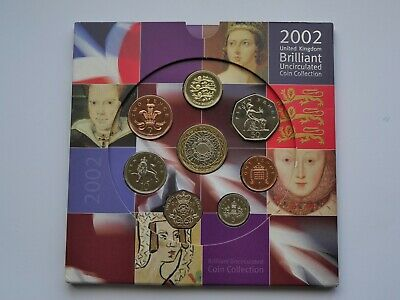 2002 Royal Mint Annual Coin Set Collection BU Brilliant Uncirculated