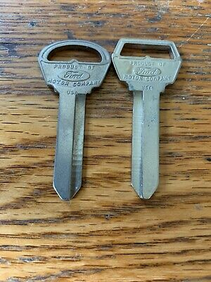 ORIGINAL OEM FORD GALAXIE KEY BLANKS IGNITION & TRUNK 1966-1993 H51 H50 NICE Set