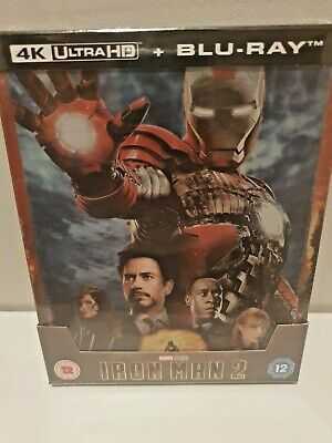 Iron Man 2 4K Ultra HD + 2D Blu-ray UK Exclusive Steelbook New & Sealed PreOrder
