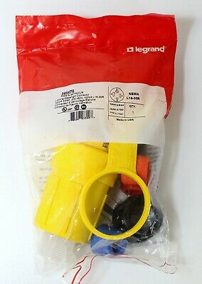 Legrand 29W76 30A 480V Grounding Locking Watertight Connector ~ Brand New