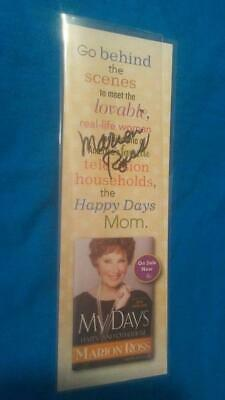 "Happy Days Tv Show Actress Marion Ross ""Mrs.c"" Hand Signed Book Mark,Autographed"