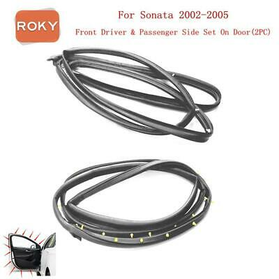2 PC Front Door Open Weatherstripping Seal For Hyundai Sonata 2002-2005