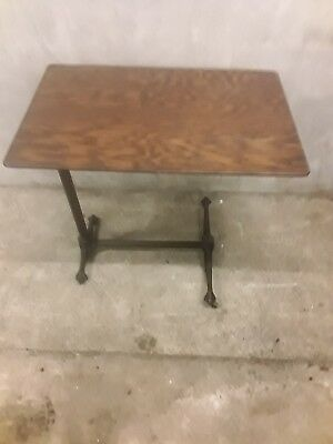 Quality Antique Adjustable Cast Iron Architects/Reading Table- Scaley Beast Legs