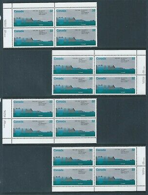 Canada #1015 St Lawrence Seaway Matched Set Plate Block MNH