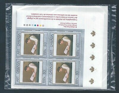 Canada #1203 Masterpieces Of Canadian Art - 1 PO Sealed Set Plate Block MNH