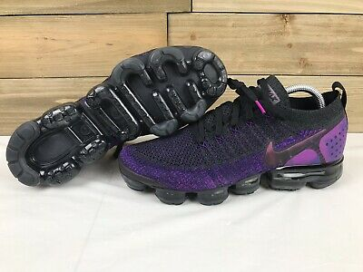 Nike Air Vapormax Flyknit 2 Black/Night Purple (942842-013) Size 10.5 US