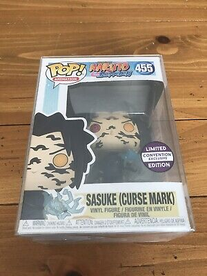 Funko Pop! Naruto #455: Sasuke (Curse Mark) w/ Sticker & Soft Protector