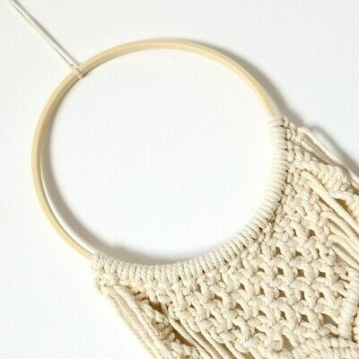 10pcs Wooden Bamboo Dream Catcher Dreamcatcher Feather Ring Craft Round Hoop
