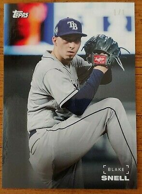 BLAKE SNELL 2019 Topps ON-DEMAND BLACK & WHITE FULL COLOR 1/1 ONE OF ONE 49D