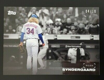 NOAH SYNDERGAARD 2019 Topps ON-DEMAND Black & White PLAYER COLOR PARALLEL 4/10