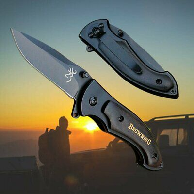 Browning 337 Knife Folding Pocket Knife Survival Fishing Hunting Camping Outdoor