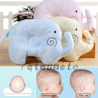 Infant Baby Pillow For Newborn Elephant Shape Prevent Flat Head Support Pad UK