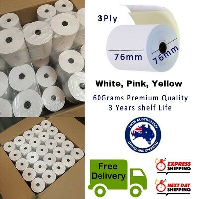 50Rolls 76x76mm 3PLY Bond Paper 3 ply Kitchen Roll Receipt Roll