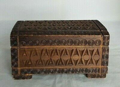 Beautiful Vintage Wooden Storage Box (Width - 16 cm)