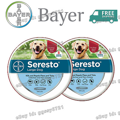 Bayer Seresto Flea and Tick Collar for Large Dog 8 Months Protection 2-PACK