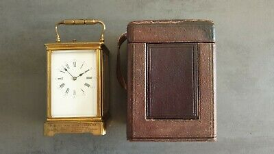 Antique French Carriage clock from 1878, strikes the half and full hours