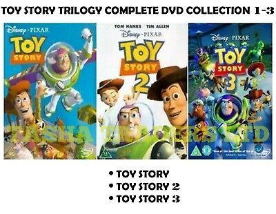 TOY STORY TRILOGY - Walt Disney - Complete Collection 1 2 3 NEW UK REGION 2 DVD
