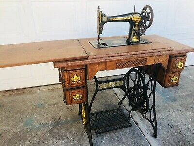 Antique 1874-1875 Singer class127 Sphinx Treadle Sewing Machine Model 16671265