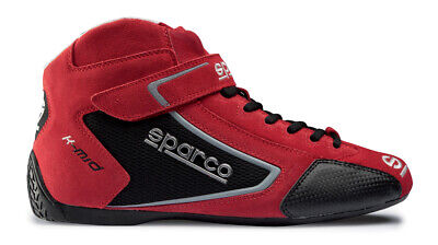 Sparco K Mid Adult Kart Boots - eur 40- Red- Clearance