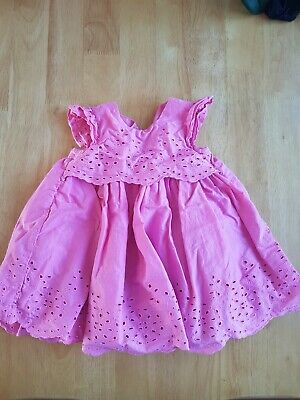 Ex Mothercare Baby Girls Pink Texture Dress Sizes 0 3 6 9 12 18 24 months