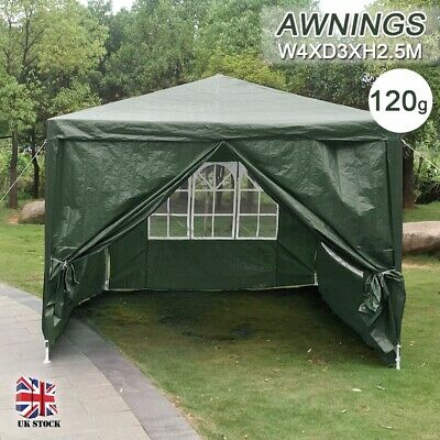 4 x 3m Garden Gazebo Awning Marquee Heavy Duty Party Tent Outdoor Wedding