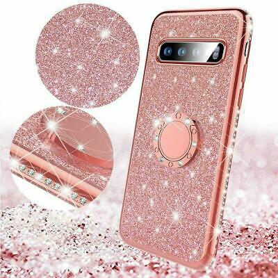For Samsung S10 Plus / S9 Bling Glitter Sparkly TPU Case Ring Holder Cover Stand